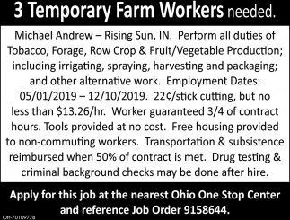 Temporary Farm Worker