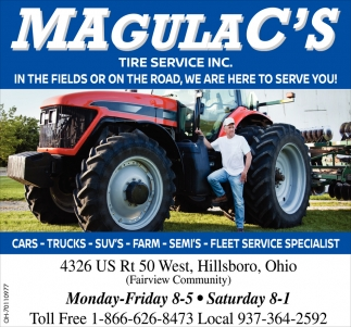 In the Fields or on the Road, We Are Here to Service Now