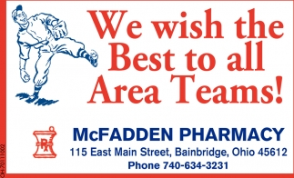 We wish the Best to all Area Teams!
