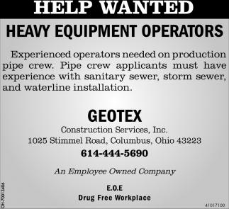 Heavy Equipment Operators