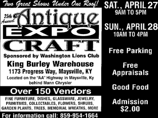 Mann Chrysler Maysville Ky >> At The King Burley Warehouse 25th Annual Antique Expo Craft
