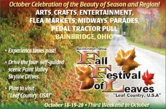 October Celebration of the Beauty of Season and Region!