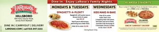 Dine In - Enjoy Family Nights