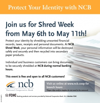 Join us for Shred Week