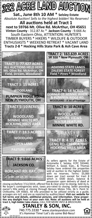 322 Acre Land Auction