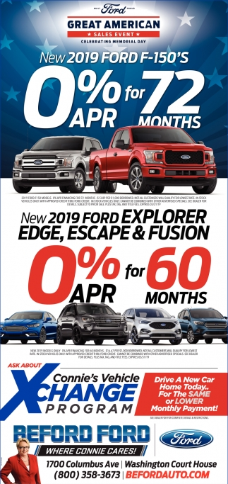New 2019 Ford Explorer Edge, Escape & Fusion