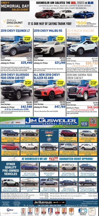 Chevy Memorial Day - Sales Event
