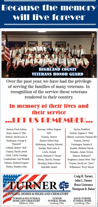 In memory of their lives and their service... Let us Remember...