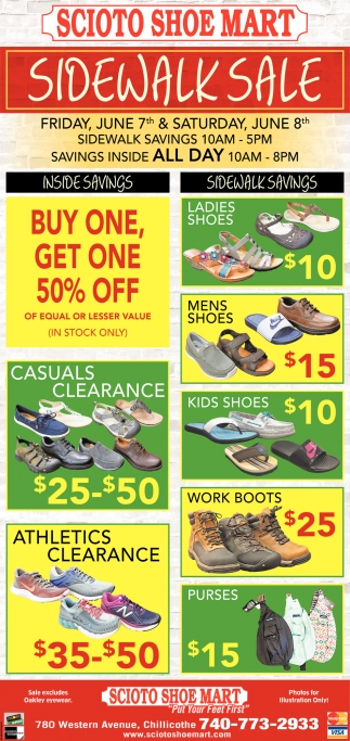 Sidewalk Sale - Buy One Get One 50% Off