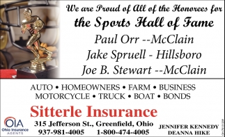 We are Proud of All of the Honorees for the Sports Hall of Fame