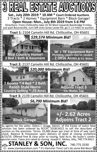 3 Real Estate Auction