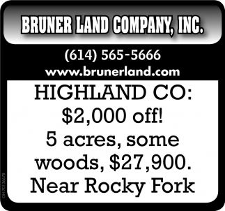 5 acres with woods,  $27,900