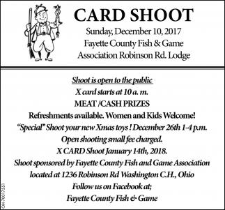 Card Shoot