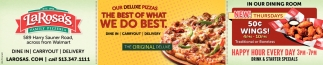 Our Deluxe Pizzas - The Best of what We Do Best
