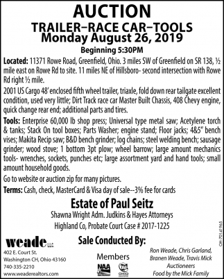 Auction August 26