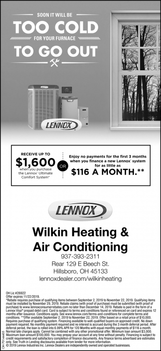 Soon it will be Too Cold for your furnace To Go Out