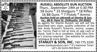 Russell Absolute Gun Auction, Stanley & Son, Inc