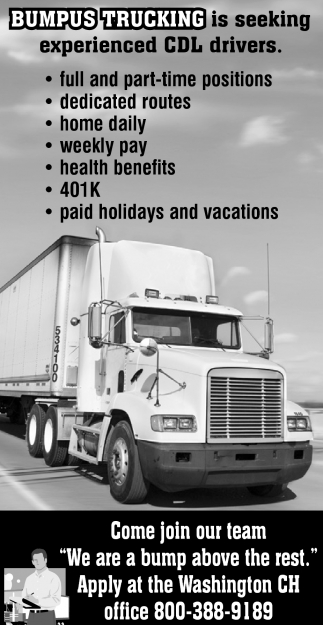 cdl drivers bumpus trucking