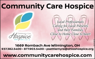 Local Professionals ~ Caring for Local Patients an their Families~ Close to Home Close to heart