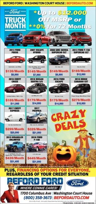Truck Month - Crazy Deals