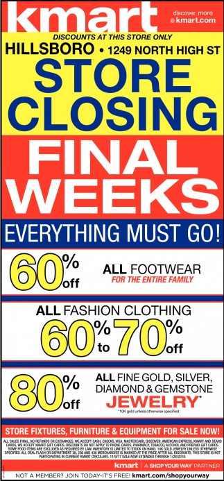 Final Weeks Everything must go!