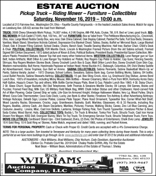Estate Auction - November 16
