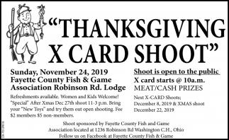 Thanksgiving X Card Shoot