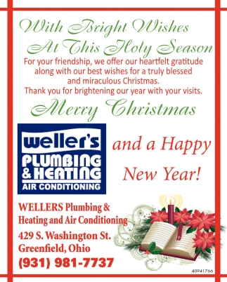With Bright Wishes At This Holy Season