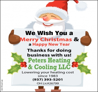 We Wish You Merry Christmas & a Happy New Year