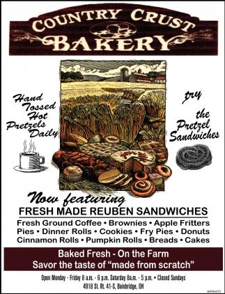 Now Featuring Fresh Made Reuben Sandwiches