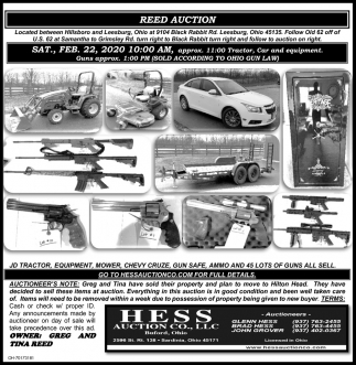 Reed Auction - Feb. 22