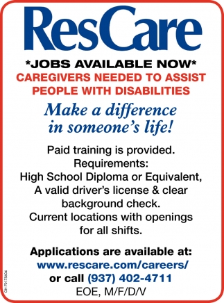 Jobs Available Now