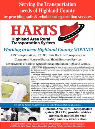 Working to keep Highland County Moving!