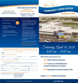 Community Open House & Health Fair