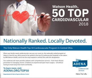 Watson Health 50 Top Cardiovascular 2018