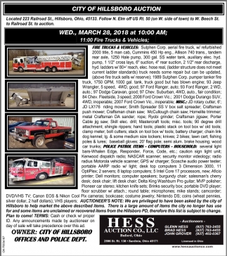 City of Hollsboro Auction