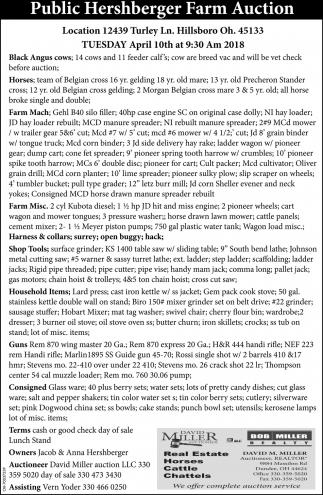 Public Hershberger Farm Auction