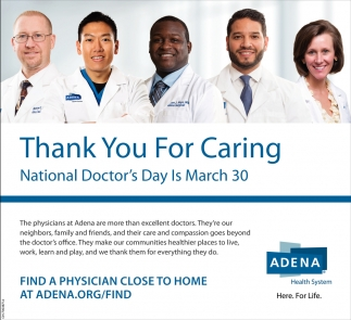 National Doctors Day Adena Health System
