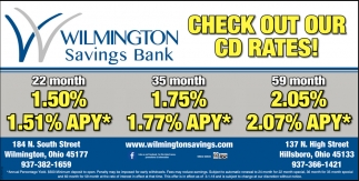 Check out our CD rates!