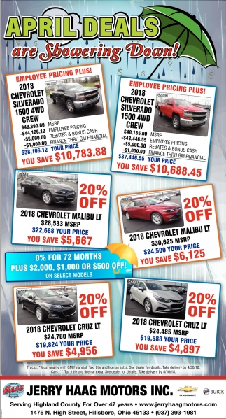 April Deals are Showering Down!