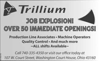 Over 50 Immediate Openings