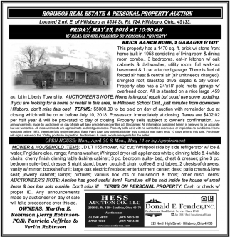 Robinson Real Estate & Personal Property Auction