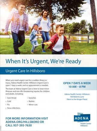 Urgent Care in Hillsboro