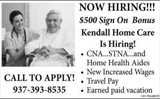 CNA, STNA, Home Health Aides