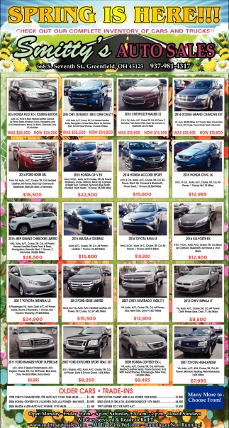 Smittys Auto Sales >> Spring Is Here Smitty S Auto Sales Greenfield Oh