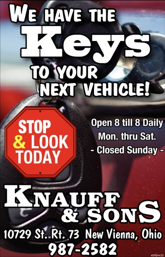 We have the Keys to your next vehicle!