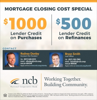 Mortgage Closing Cost Special