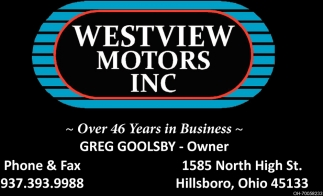 Celebrating over 46 years in business