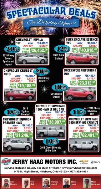 Spectacular Deals