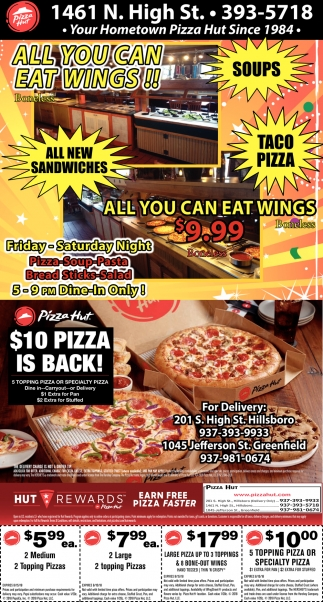 All Pizza Hut Voucher & Promo Codes for October 12222